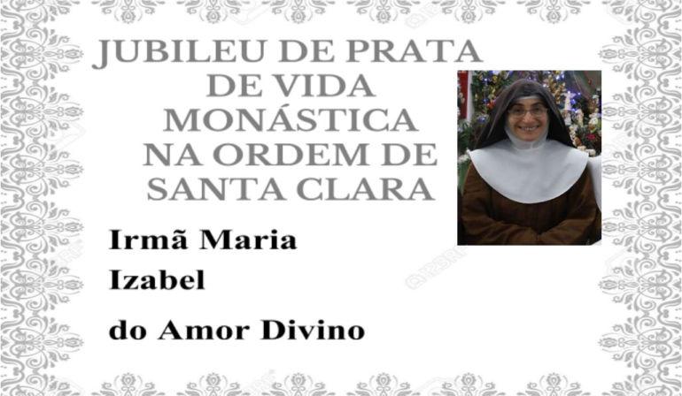 Convite de Jubileu da Irmã Izabel